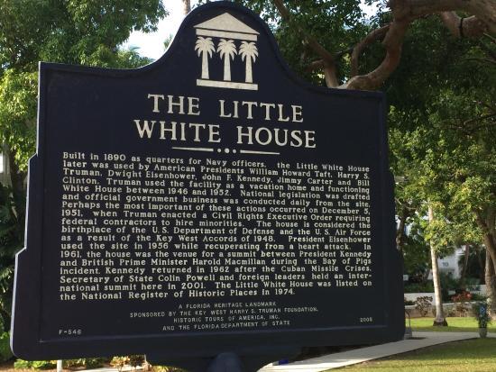 plaque picture of harry s truman little white house key west rh tripadvisor com