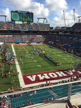 Miami Gardens, Floride : Sun Life Stadium, lower portion upper deck west side
