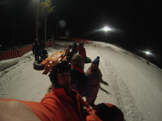 Fraser Tubing Hill: Bring your friends, it is FAST!