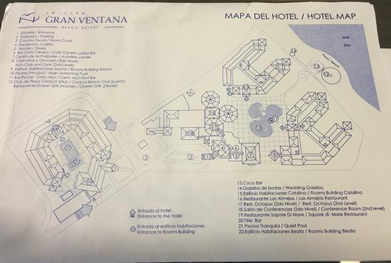 Resort Map Picture Of Vh Gran Ventana Beach Resort