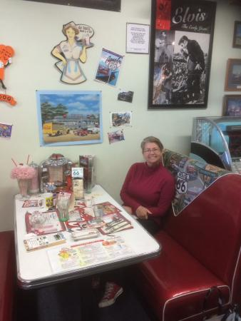 The California Route 66 Museum: Diner