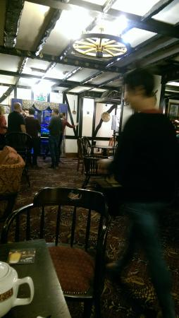 Frimley Green, UK: the continental hotel bar - dated ... timewarp