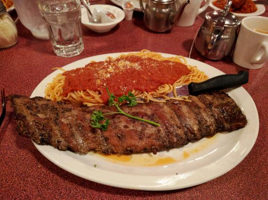 Trail, Canada: ribs and spaghetti!