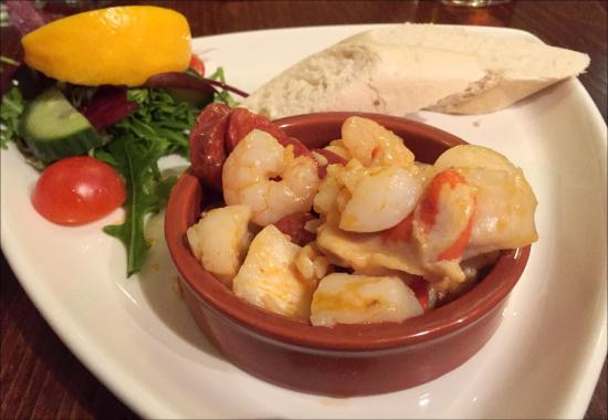 weekly specials - Scallops, King Prawns & Chorizo in a garlic butter ...