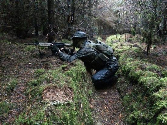 Achonry, Irland: trench warfare