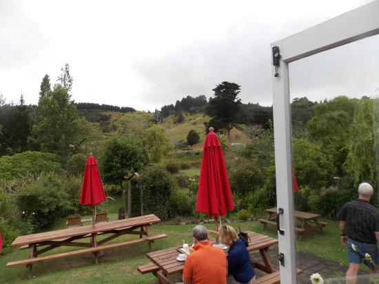 Puhoi, New Zealand: View from tea rooms