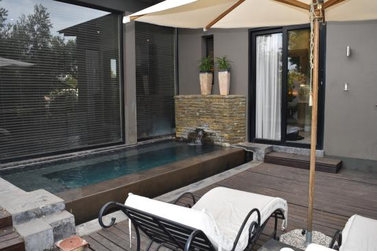 The Olive Exclusive: Outdoor terrace with private plunge pool