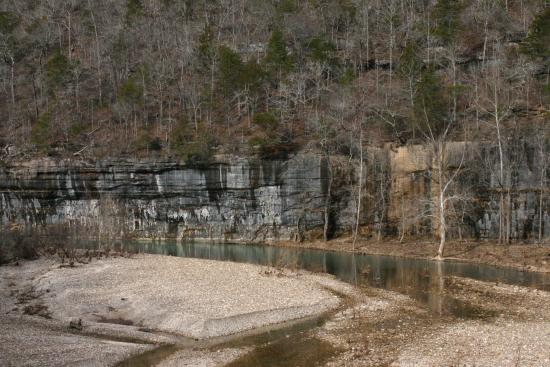 Jasper, AR: View of the nation's first Scenic River, The Buffalo from the Buffalo River Trail