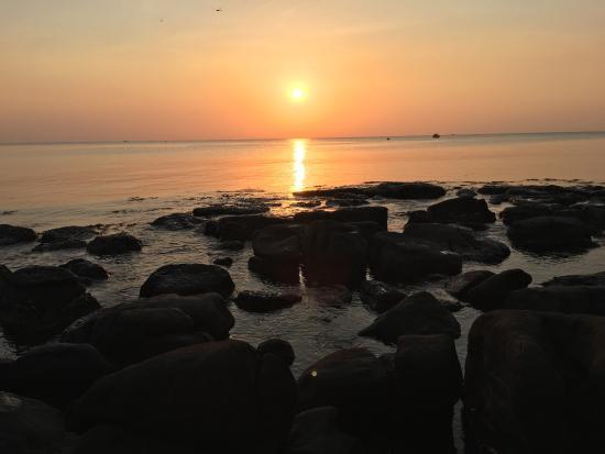 Nice sunset quiet evening