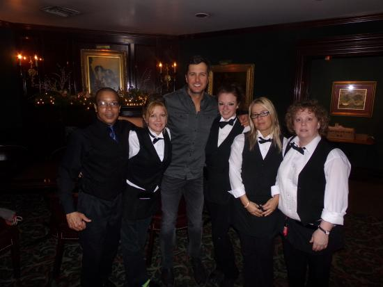 Jim's Steakhouse : Luke Bryon and servers