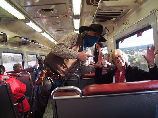 Williams, AZ: A train robbery!