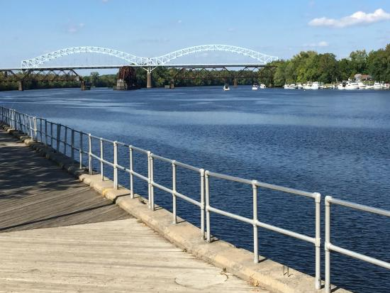 Middletown, CT: A view of the bridge across the Connecticut River