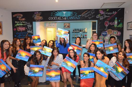 Moonee Ponds, Australia: Paint and Sip Hen's Party