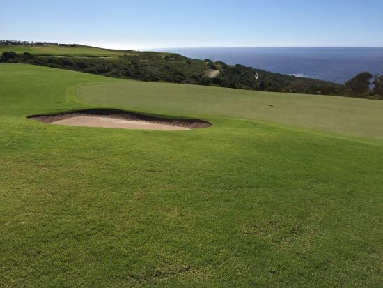 Oubaai Golf Course. 18th hole in pictures. Oubaai was the 1st Ernie Els designed course in South