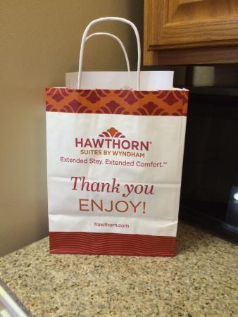 Residence Inn Detroit Troy/Madison Heights: Gift bag