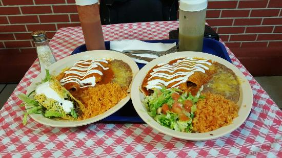 DeLand, FL: Taco and two enchilada combo  and a regular  enchilada  combo!