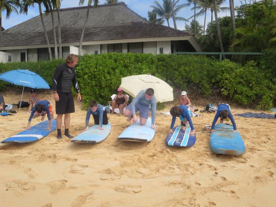 Lawai, HI: they weren't playing hookey they were at surf school