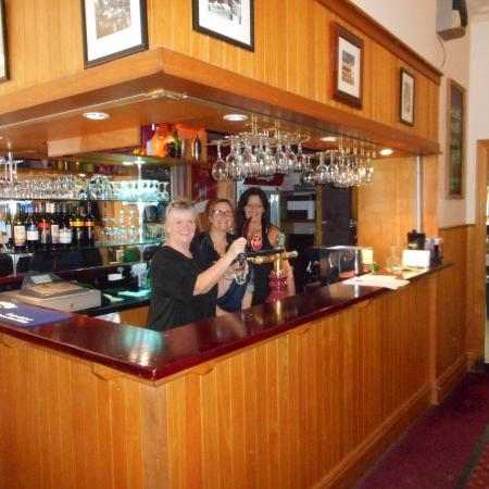 Your  Friendly & Welcoming Staff Shaz(right) & Libby(Left) at Royal Hotel Drouin