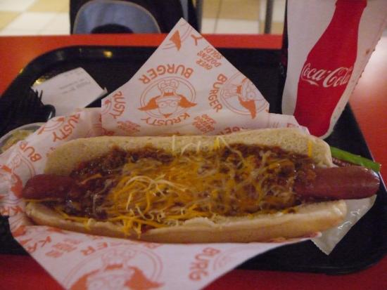 Foot long chilli hotdog picture of krusty burger los for Dog hotels in los angeles