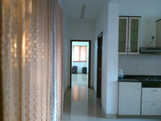 Amrita Towers: way to master bedroom from kitchen