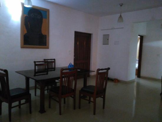 Amrita Towers: big dining room