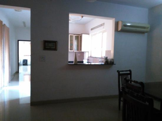 Amrita Towers: view of kitchen from dining
