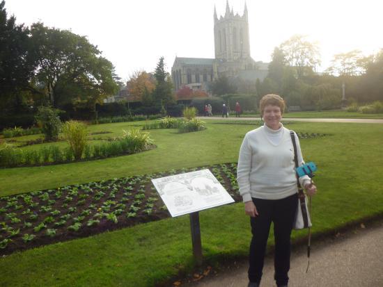 Anglia orientale, UK: Vista da Catedral em Abbey Gardens