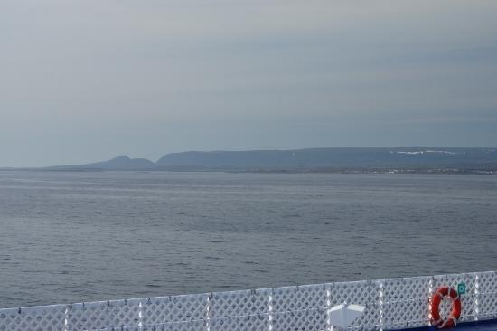 Grenfell Heritage Hotel & Suites : View as we approached Newfoundland (from Ferry)