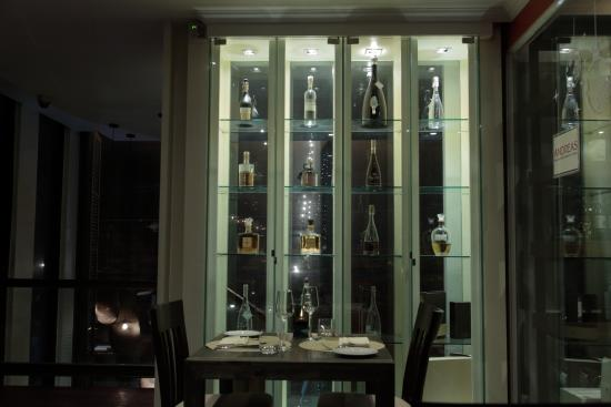 Andreas Italian Restaurant U0026 Grill: Liquor Display Cabinet.