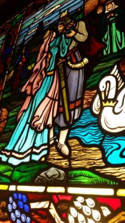 Mader's: Famous German fairy tale in stained glass