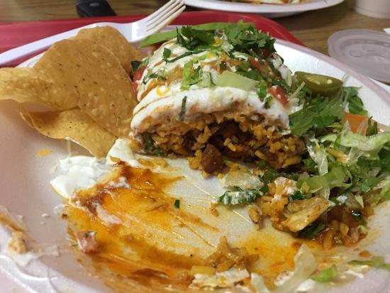 Alabaster, AL: LA burrito with pastor pork