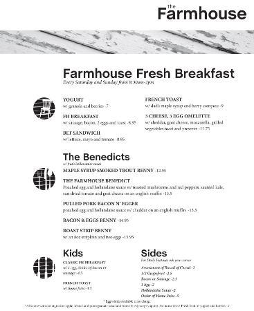 Μπάριε, Καναδάς: Breakfast Menu Sat and Sun from 830 AM