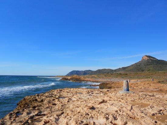 Cabo de Palos, Spagna: Mojones de demarcación de costas