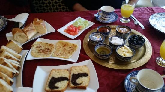 Riad Louna: Muy buen desayuno