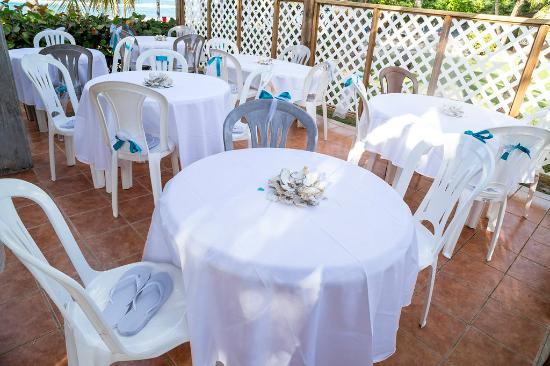 Ababor Suites: We fit many tables in the gazebo.