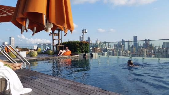 Roof Top Pool Deck Picture Of Hotel Jen Orchardgateway Singapore