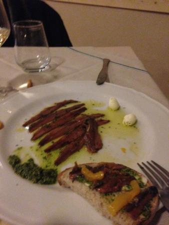Felizzano, Italia: Acciughe con salsa verde