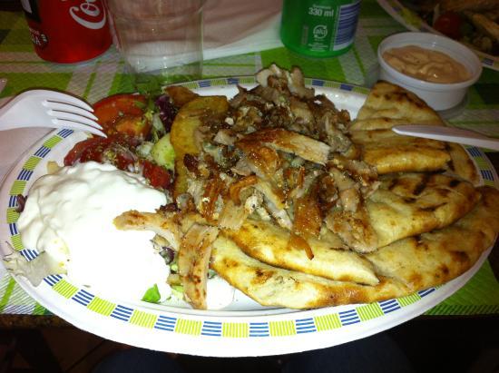 Mythos: piatto gyros