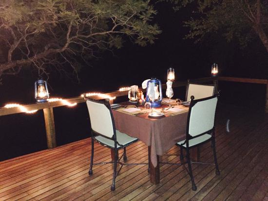 Monwana Game Lodge: Evening meal