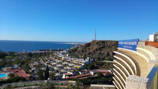 Gloria Palace San Agustín Thalasso & Hotel : view from rooftop toward maspalomas