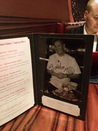 hell s kitchen menu picture of gordon ramsay steak las vegas rh tripadvisor com au