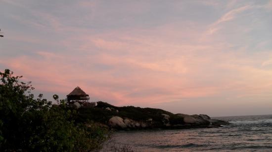 Camping Tayrona: sunrise
