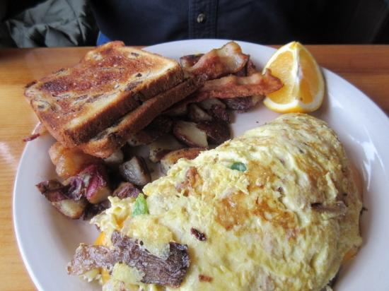 Remington's Restaurant: Brunch Prime Rib Omelet Special!