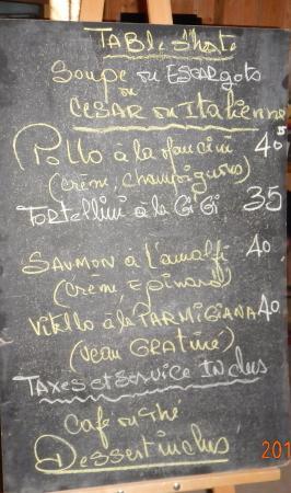 Aux Deux Oliviers : Voila un menu personnalisé pour un anniversaire! avril 2015