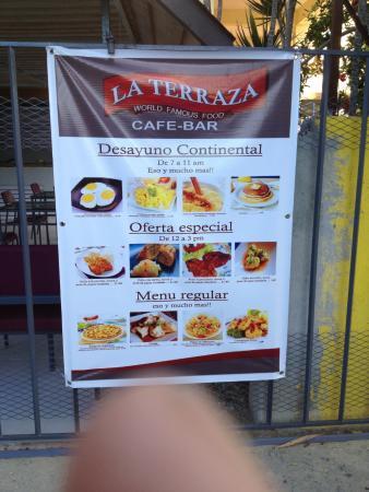 Cafe Del Sol Menu Juan Dolio
