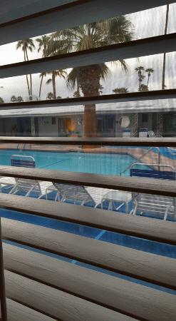 Palm Springs Rendezvous: View of the pool/courtyard from The Crooners