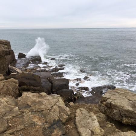 Isle of Portland, UK: rocky coastline