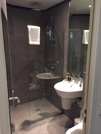 Hotel Albe Saint Michel: shower in room 214 with the amazing shower