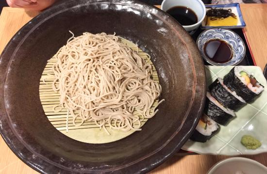 Cold soba with special roll - Picture of Azuma Sushi Restaurant ...