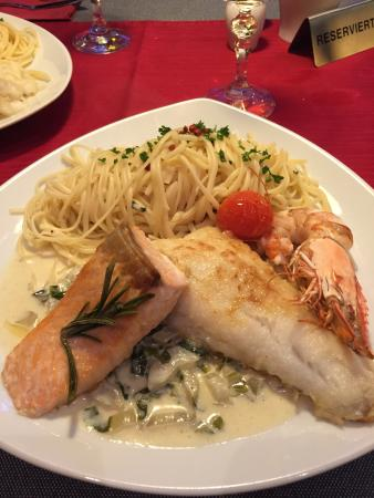 Gusto Stolberg : Haupgang Fisch mit Pasta